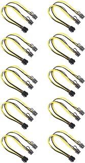 KESOTO 10 Peças 8 Pinos para 2x 8 Pinos (6 + 2) PCI Express Power Adapter Y-splitter Cable