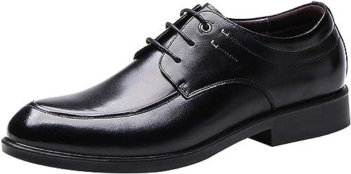 Oudan Chaussures Derby à Lacets pour Hommes. Chaussures Mode en en Cuir. Chaussures habillées. Classique Noir Marron (Couleuré   Noir, Taille   43EU)  magasin de gros