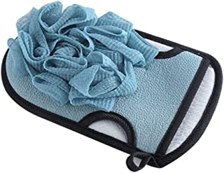 Bathing Gloves Double-Sided Strong Exfoliating Spa Massage Gloves Protection (Color : Blue)