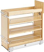 Rev-A-Shelf 448-BDDSC-8C Innovative 8 Inch Door/Drawer Base Soft Close Kitchen Cabinet Storage Organizer, Natural Maple Wood