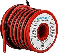 BNTECHGO 14 Gauge Silicone Wire Spool 40 feet Ultra Flexible High Temp 200 deg C 600V 14 AWG Silicone Wire 400 Strands Of ...