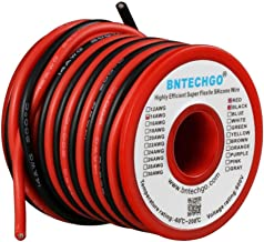 BNTECHGO 14 Gauge Silicone Wire Spool red and Black Each 20ft Flexible 14 AWG Stranded Copper Wire