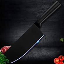 NMLYZ Acero Cuchillo de Cocina de Cortar Cuchillo Antiadherente de Carnicero Cuchillo Negro japonés Inoxidable Utensilios de Cocina Regalo for Las Mujeres (Color : C.Nakiri Knife)