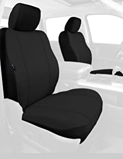 Fia SP88-32 BLACK Custom Fit Front Seat Cover Bucket Seats - Poly-Cotton, (Black)