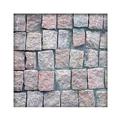 Granit Pflaster Rötlich 8 x 10 x 6-8 cm Granitpflaster Pflasterstein Naturstein 100 Steine ( 1m² )