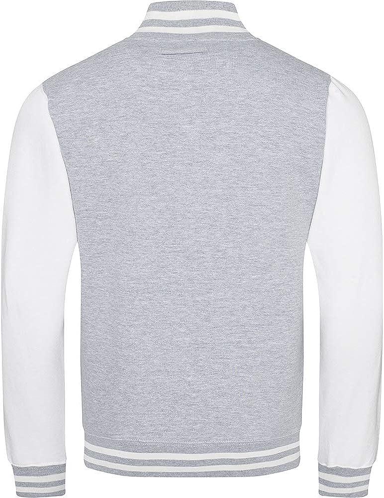 Awdis Unisex Varsity Jacket (L) (Kelly Green / White) at  Men's Clothing store