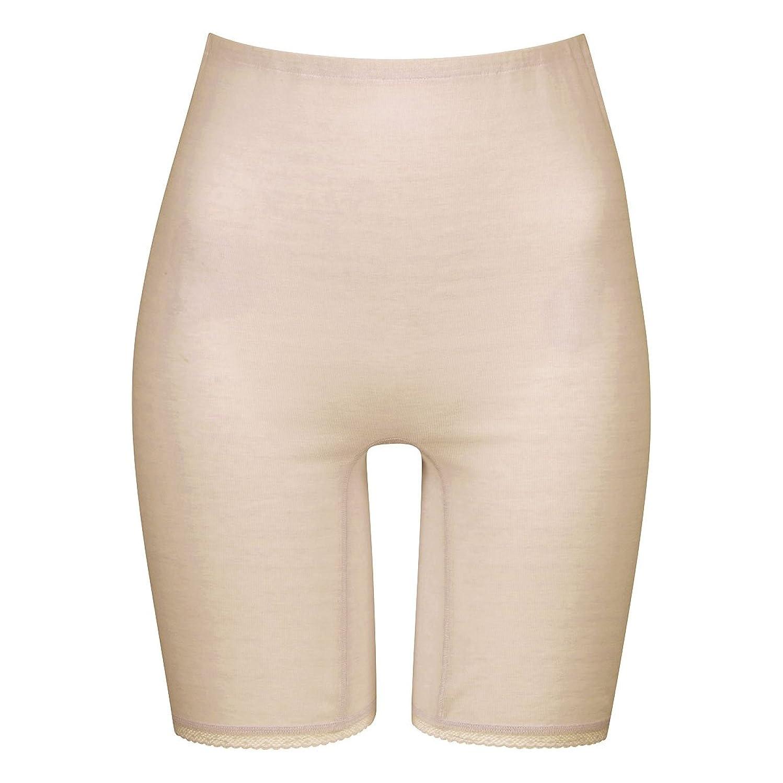賢いレンドセグメント(ワコール)Wacoal スゴ衣 天然素材プラス シャリッとひんやり 天綿100% 3分丈 ボトム ML(BE-ベージュ、L)