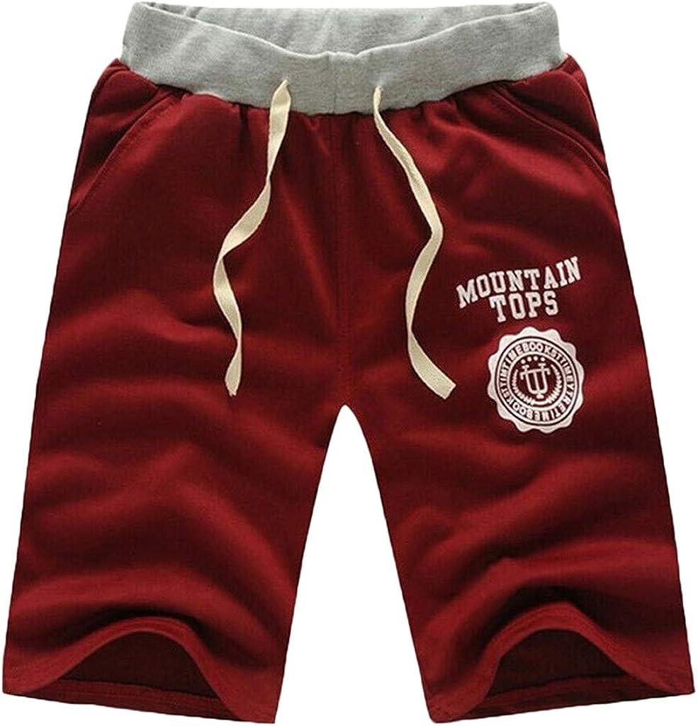 YUNDAN Casual Shorts Mens Big & Tall Baggy Gym Workout Sweatpants Comfy Elastic Waist Shorts Beach Swim Trunks Board Shorts