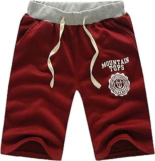 TIANMI Men's Casual Drawstring Shorts Pants Fashion Elastic Waist Sport Half Trousers Summer Plus Size Pants