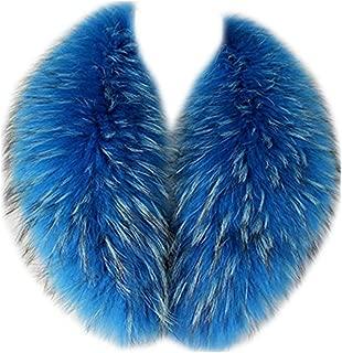 Gegefur 2018Women's Detachable Genuine Raccoon Fur Collar Scarf