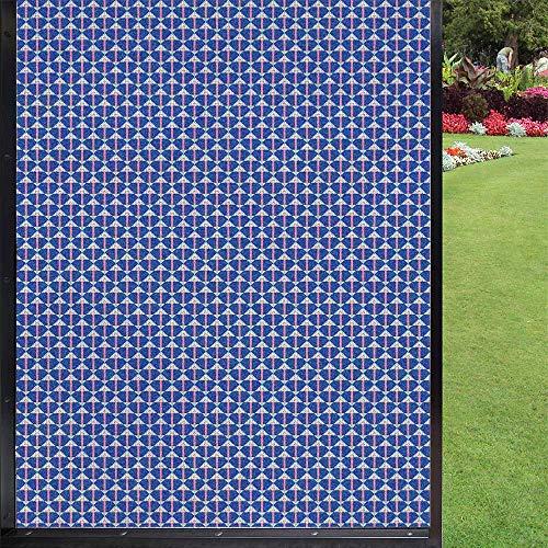 Película de seguridad para ventanas de baño, ducha, cocina, oficina, color violeta azul pastel rosa 60 x 90 cm