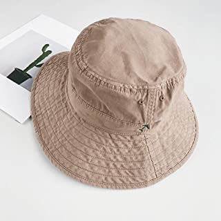 JSX Ladies Sun Hat Foldable Wide Brim UPF 50+ Solid Color Camping Hiking Fisherman Hat UV Protection Breathable Bucket Sun Hat