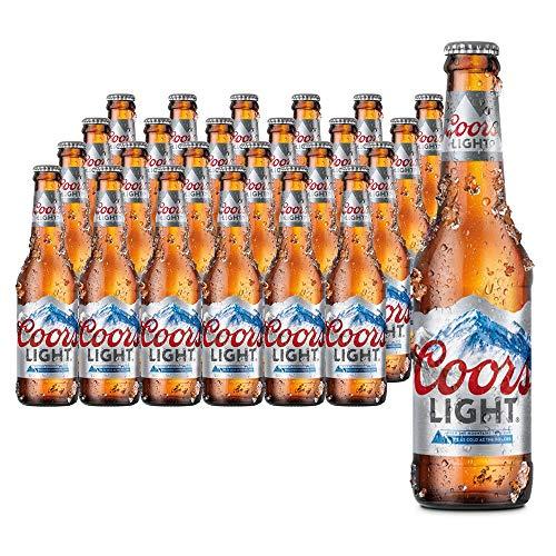 Coors Light Lager Norteamericana. 4% Vol. Caja de 24 botellas de 330 ml