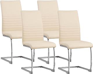 Albatros chaise cantilever BURANO Lot de 4 chaises, beige, testé par SGS