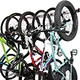 Bike Wall Rack for 6 Bikes - Adjustable Indoor Bicycle Storage Mount for Garage or Home - Vertical Cycling Hanger - Secure Hook - Holder for Road or Mountain Bicycles