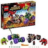 LEGO Marvel Super Heroes 76078 - Hulk gegen Red Hulk, Superhelden-Spielzeug