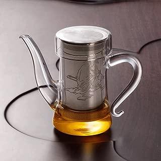 Teapots Tea Glass Tea Filter Every Heat-resistant Stainless Steel Interior Tea Maker Tea Cup Red Tea Cup 280ml Tea pot