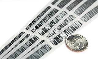 My Scratch Offs 0.25 x 1.375 Inch Silver Zebra Print Rectangle Security Scratch Off Label Stickers - 250 Pack