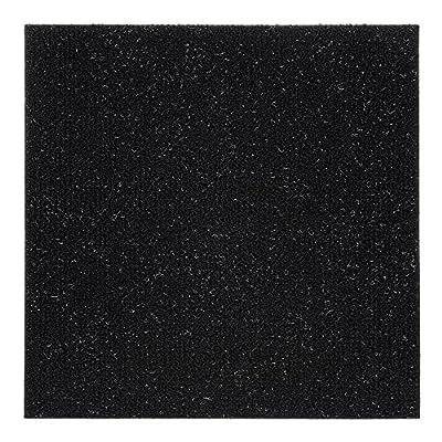 Achim Home Furnishings NXCRPTJT12 Nexus Jet 12 inch x 12 inch Self Adhesive Carpet Floor Tile, 12 Tiles/12 Sq