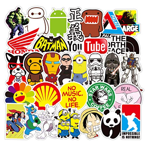 Street Fashion Sticker Decals, Laptop Vinyl Cool Stickers for Waterbottle, Hydro Flask, Luggage, Snowboard, Motorcycle, MacBook, iPhone, Wall, DIY Party Supply Graffiti Patches Decal (KTDM)
