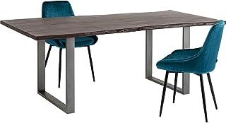 Table Harmony Noyer Acier 180x90cm Kare Design