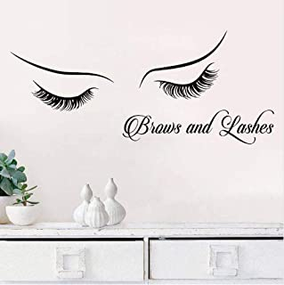 chenwasd.co Sourcils Et Cils Wall Sticker Affiche Home Decor Chambre Salon De Beauté Vinyle Stickers Cils Extension Art Au...