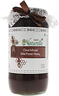 Farm Naturelle-Real Clove Infused 100% Pure Raw Natural Wild Forest Honey (1.45 KG Big Glass Bottle)-Immense Medicinal Value