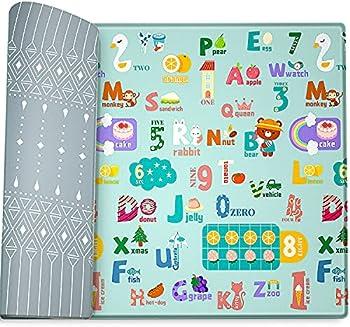 Firares 6.5 ft x 4.5 ft Non-Toxic Soft Foam PVC Baby Play Mat