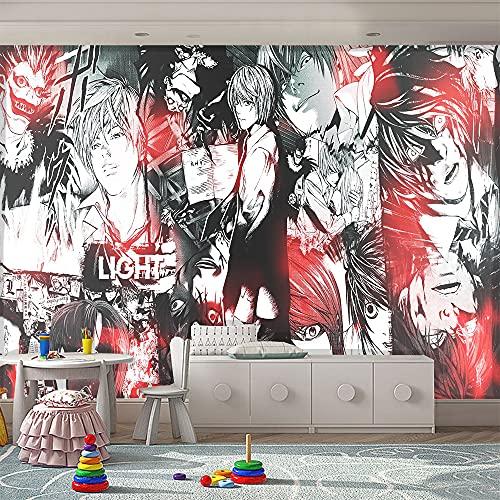 LUKIFU Death Note Mural Fond D'Écran Papier Peint Mural Chambre D'Enfants Dessin Animé Garçons Chambre Fond Mur Décoration Intérieure Murale-300x250cm