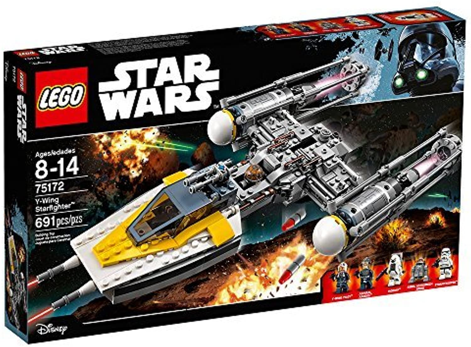 LEGO Star Wars 691-Piece Y-Wing Starfighter Construction Set