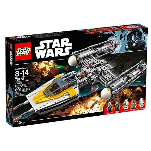 LEGO Star Wars Y-Wing Starfighter 75172 Star Wars Toy (691 Pieces)