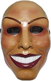 The Purge Mask Smiling Female Face Design Halloween Costume Fits Men and Women