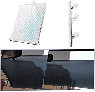 Volwco Car Side Window Sunshades 40 X 125CM Laser Automatic Telescoping Front Rear Side Windshield Roller Blinds PVC Surface Blocks UV Rays and Heat for Sedan SUV Truck - coolthings.us