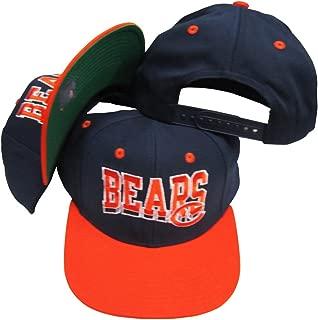Reebok Chicago Bears Navy/Orange Two Tone Plastic Snapback Adjustable Plastic Snap Back Hat/Cap