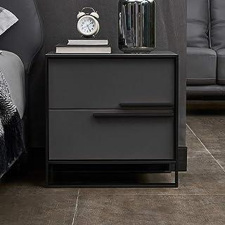 Table de chevet Table de chevet en métal avec lit de luxe luxueux simple chambre moderne simple armoire moderne en bois ma...