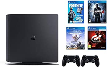 Sony PlayStation 4 500GB Console (Black) with Extra Controller, 3 Months PSN Subscription and 4 Games Mega Pack Bundle