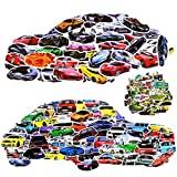 JDM Sport Car Truck SUVS Engineering Vehicle Stickers Set 200 Pcs , Vinyl Waterproof Stickers for Kids Boys Teens Laptop Wall Luggage Bumper Skateboard Guitar Helmet (Car)