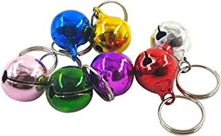 Daycount Pack of 7 Metal Jingle Bells Loose Beads Festival Party Decoration, Pet Cat Puppy Dog Bells for Collar, DIY Crafts Accessories (Random Color)