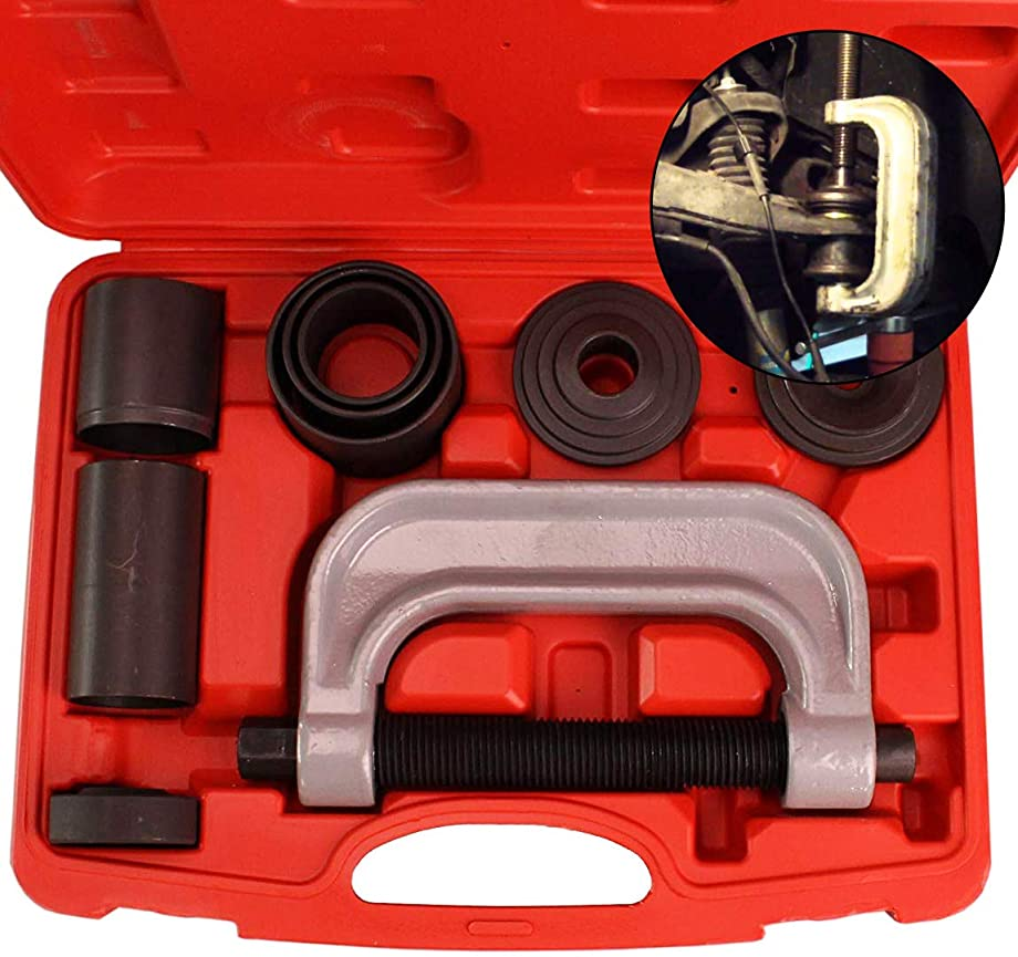 Ball Joint Service Tool Kit – Universal Remover and Installer for 2wd and 4wd Vehicle – Ball Joints Press Removal Set – Bushing and Balljoint Brake Tools – Four (4) Wheel Drive Adapters Included