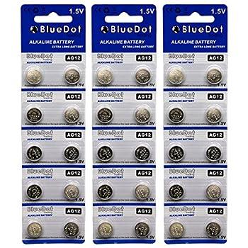 BlueDot Trading AG12 LR43 Battery 30 Count