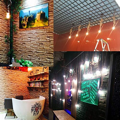 Luz de teto, fácil de instalar Suporte de lâmpada vintage de alta qualidade, luz pendente atraente,(4 meters 2 lamp holder)