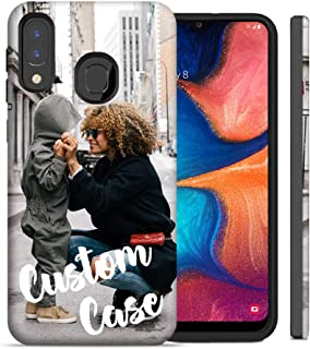Design Your Own Custom Case - Personalized Photo Image Picture Phone Case for Samsung Galaxy A10E / A20 / A30 / A50 - Dual Layered Hybrid Cover (A10E)