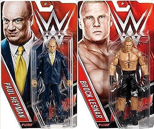 Brock Lesnar & Paul Heyman Wrestler mit Manager Set (Beide Figuren) Brandneu in Kisten