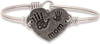  Mom Bangle Bracelet for Women - Brass Tone Size Regular Made in USA