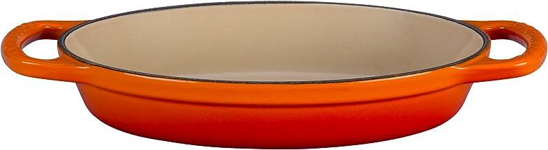 """Le Creuset Enameled Cast Iron Signature Oval Baker, 5/8 qt. (8""""), Flame"""