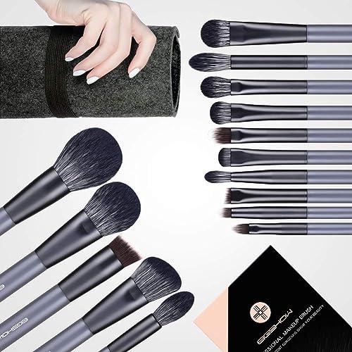 Makeup Brush Set, EIGSHOW 15 Piece Professional Makeup Brushes Kit with Corn Silk Fiber Vegan Brushes for Foundation ...