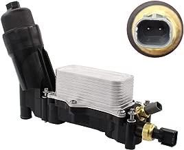 NewYall Engine Oil Filter Adapter Housing Seal Kit w/ 2 Sensors