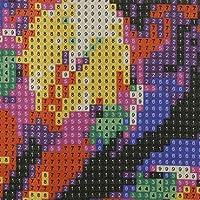 アートクラフトキャンバスDIYラインストーン絵画刺繡絵画壁装飾記念日ギ(D022 colorful two)