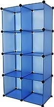 مجموعة متنوعة من 8 مكعبات باللون الأزرق