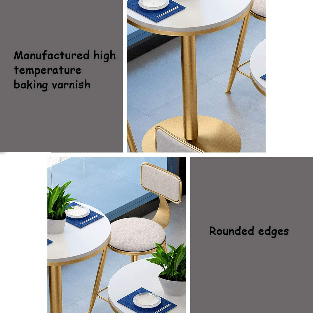 Marble Table Top With Smooth Edges Kitchen YERT Home Bar Table 3 Suitable for Coffee Shop High Temperature Paint Design Round Pub Dining Table